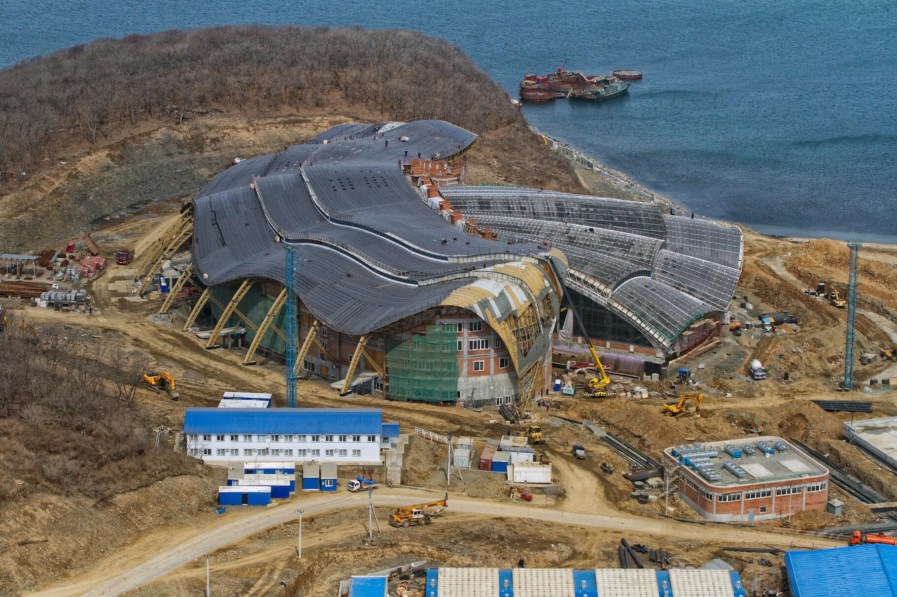 Vladivostok Oceanarium (ru) : Primorsky Oceanarium construction updates