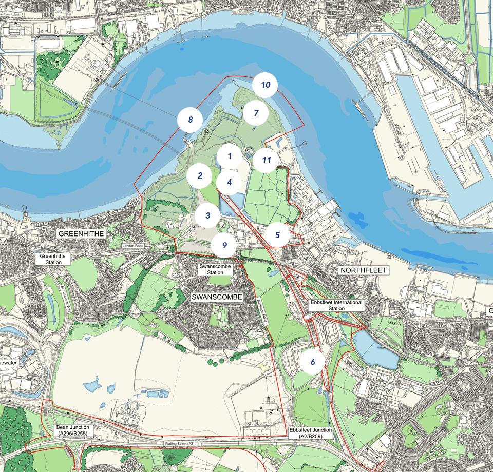 Construction Site Map: Paramount Park London Construction Updates