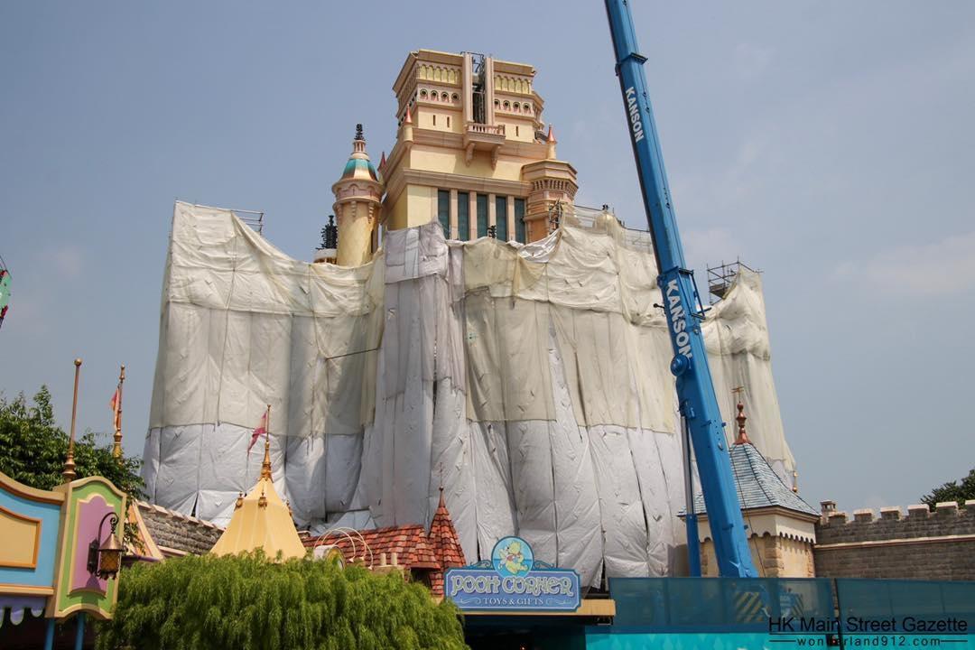 Hong Kong Disneyland expansion construction updates